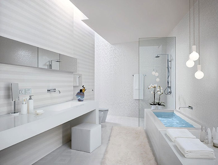 Белые ванные комнаты фото